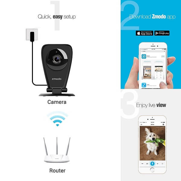 Wireless camera for a home: Zmodo EZCam Pro vs YI Home