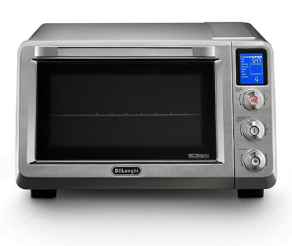 Right Of The Oven Gl Door At Top Lcd Screen Displays Clock Indicator And Eight Cooking Function Indicators Including Baking Roasting