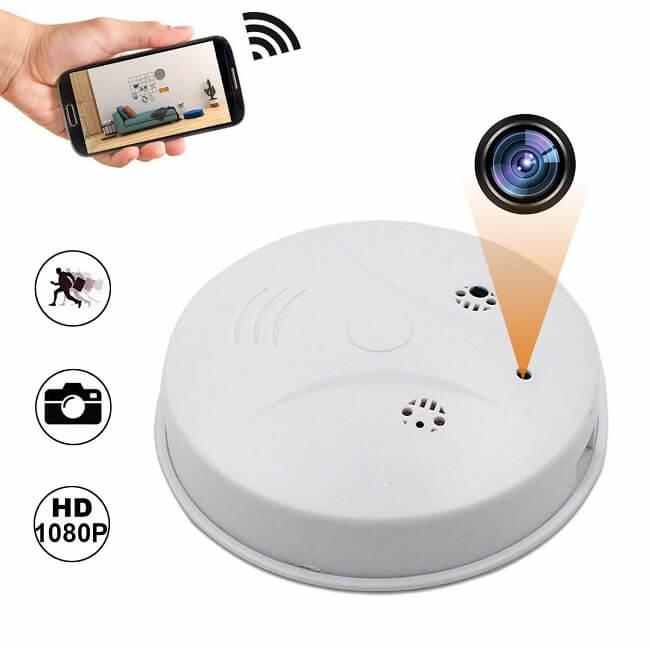 camakt smoke detector camera