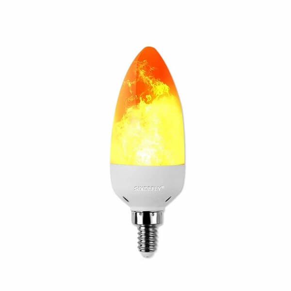 sixdefly Flame Effect Light Bulb