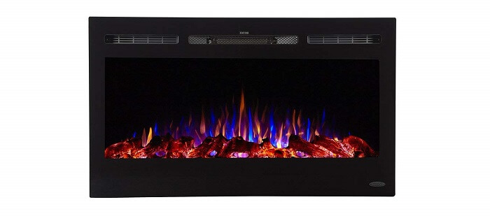 touchstone electric fireplace with remote