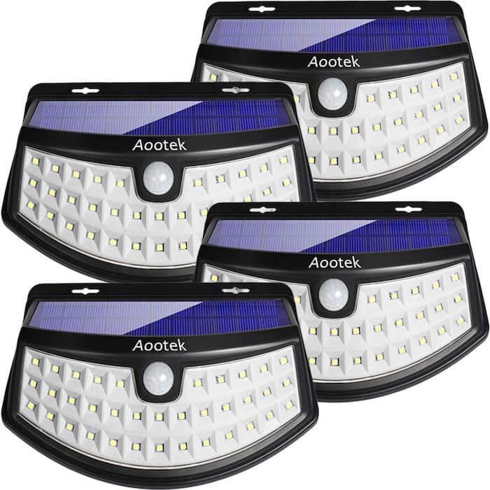 aootek solar pir lights