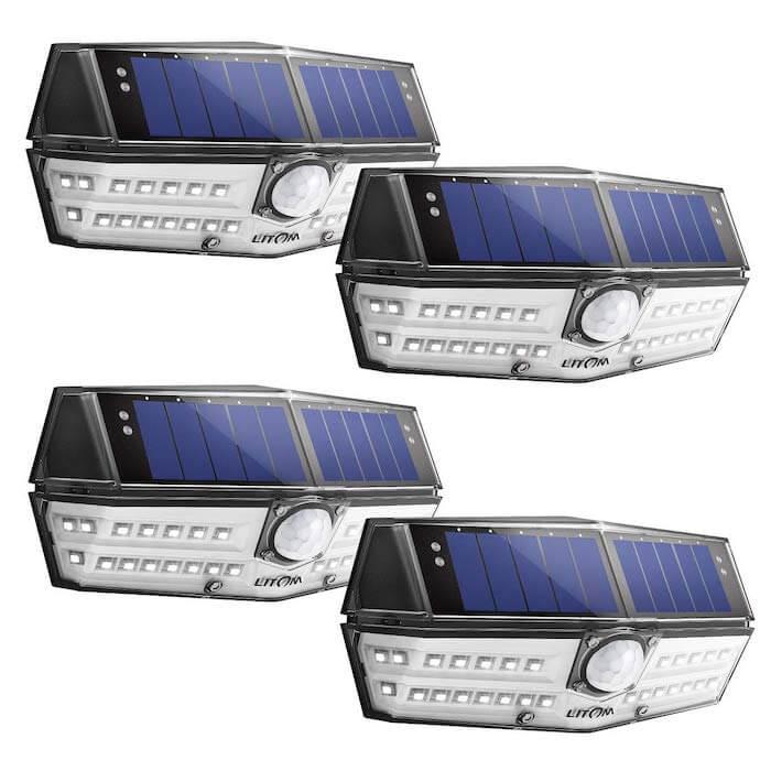litom solar pir lights