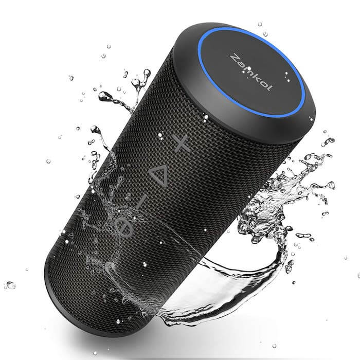 zamkol all weather bluetooth speaker