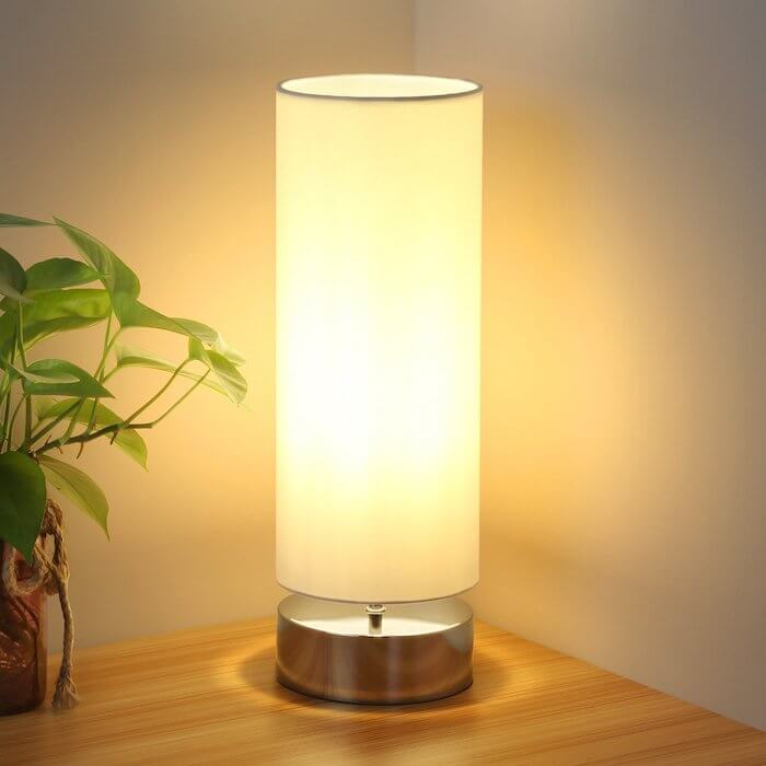 seaside village touch sensitive lamp